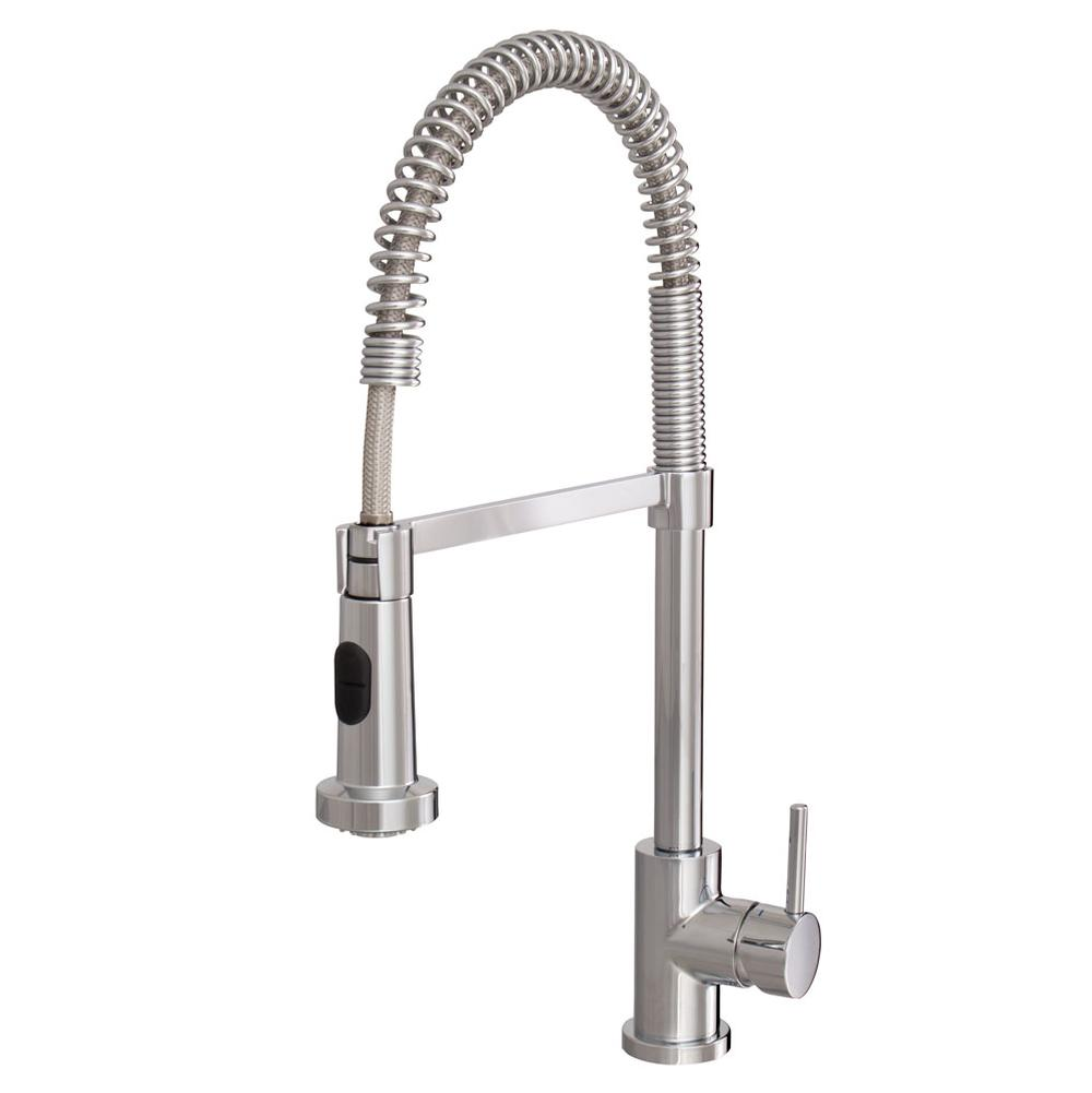 Awesome Aquabrass   ABFK30045355   Wizard Pull Down Spray Kitchen Faucet