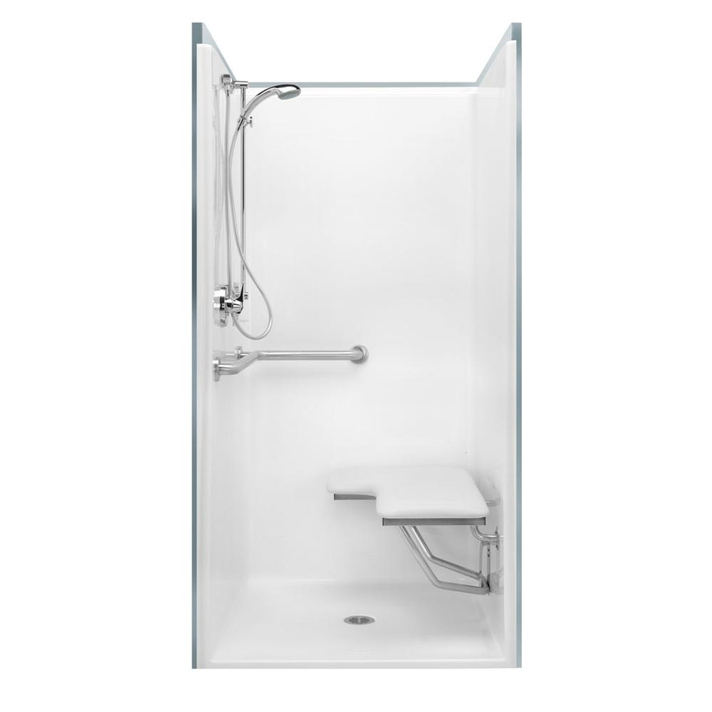 Aquatic Showers Shower Enclosures Accessible White White | Grove ...