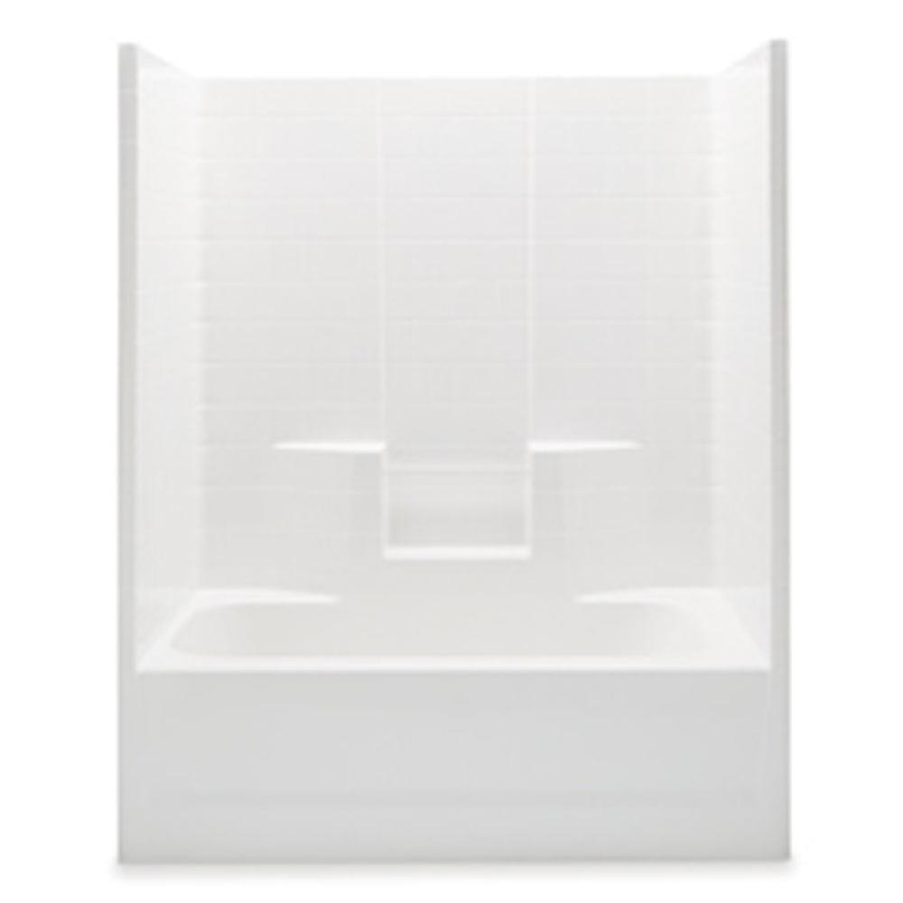 Aquatic  Tub Enclosures item 2603CTWLWP-BI
