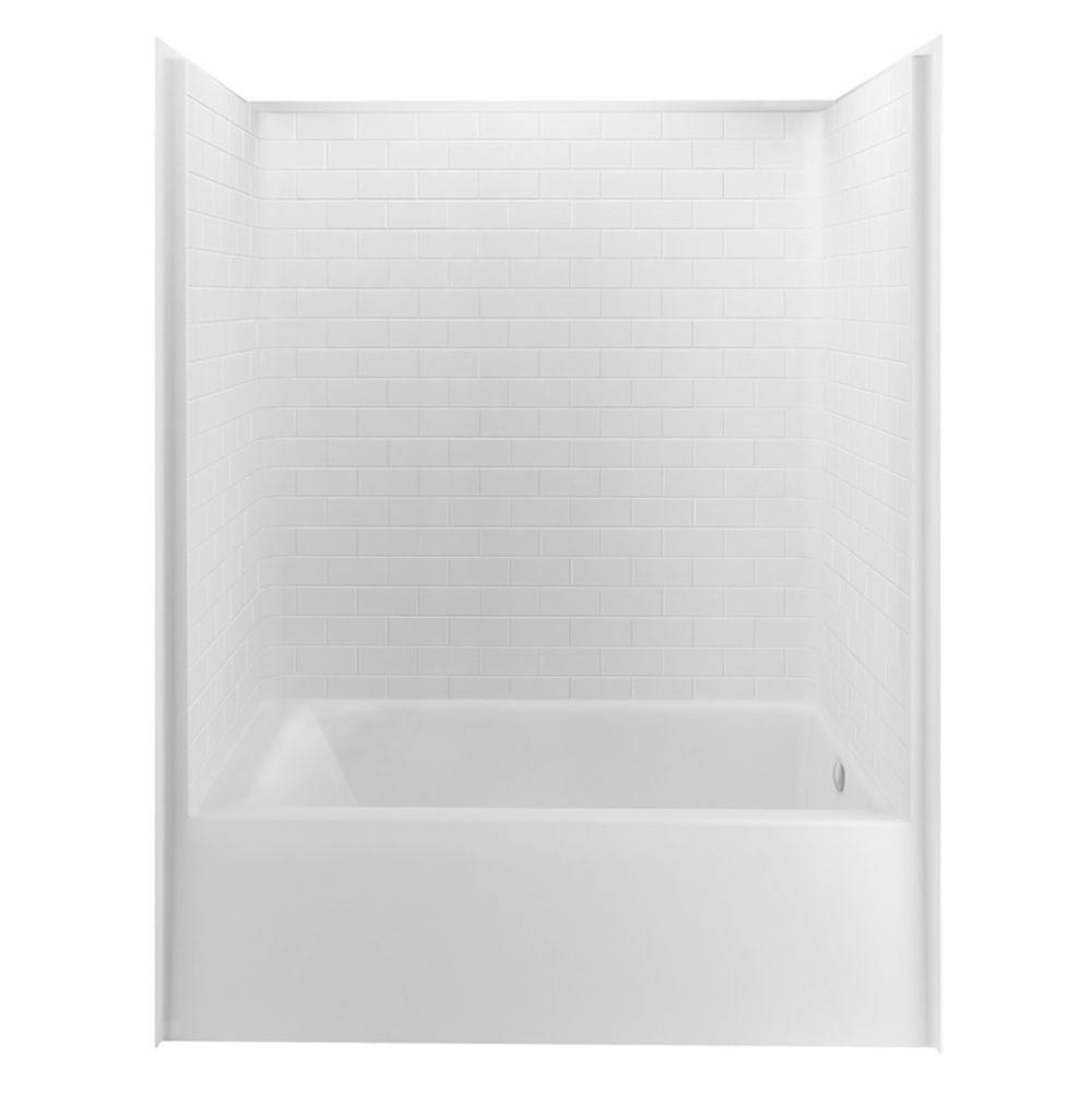 Aquatic  Tub Enclosures item 6032STTMR-WH