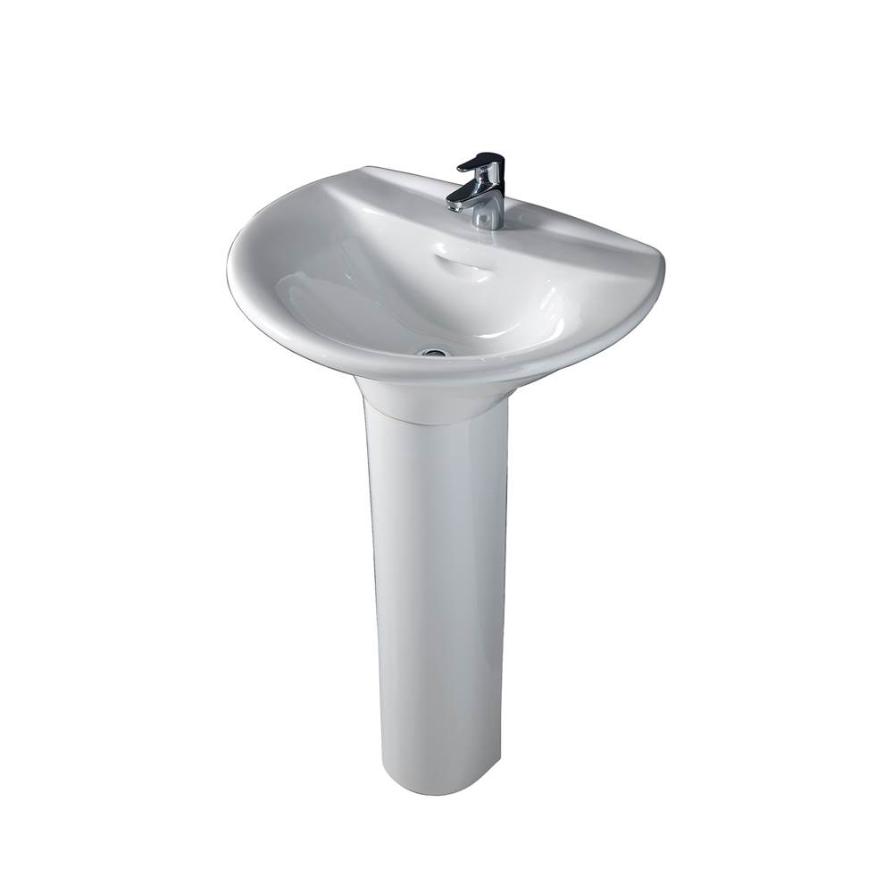 Barclay Complete Pedestal Bathroom Sinks item 3-138WH