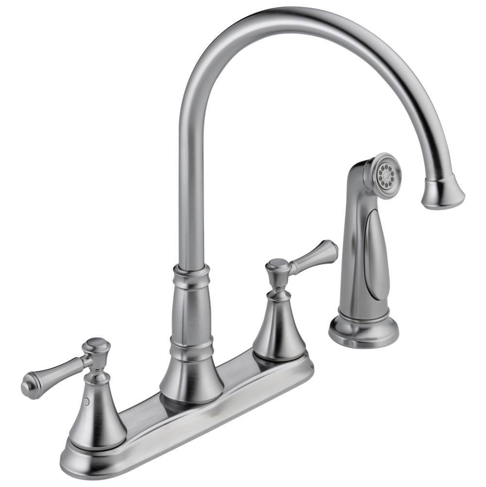 Arctic Stainless Delta Faucet RP72714AR Cassidy Two Handle Buttons and Set Screws