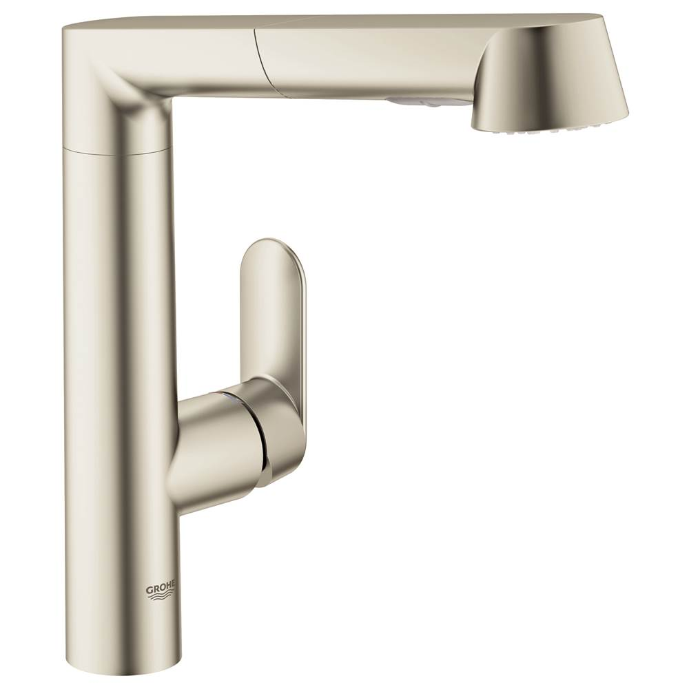Grohe   32178DC0   K7 Single Handle Pull Out Kitchen Faucet