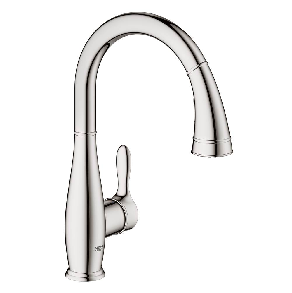 Great Grohe 30213000 At Grove Supply Inc. Serving The Delaware Valley,  Philadelphia, And South Jersey Single Hole Kitchen Faucets In A Decorative  Starlight Chrome ...