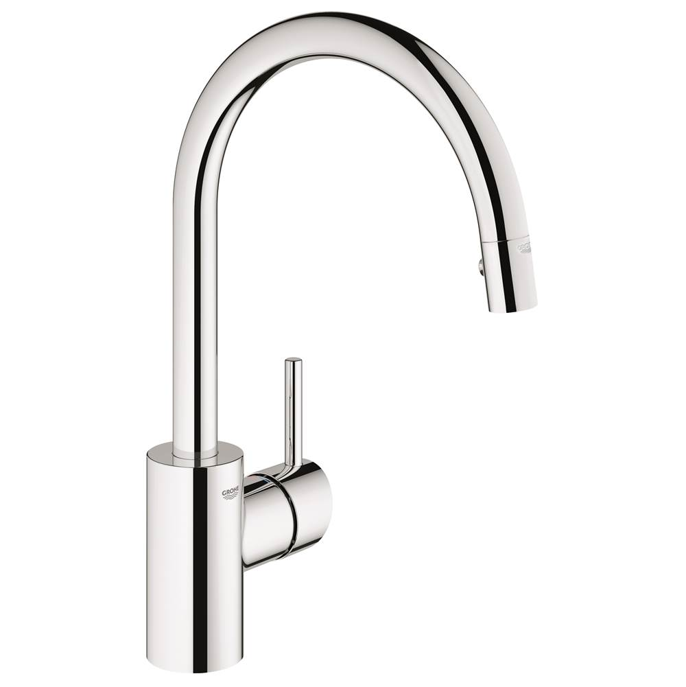 Grohe   32665001   Concetto Single Handle Pull Down High Arc Kitchen Faucet