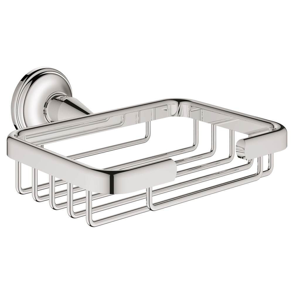 Grohe bathroom accessories - Grohe 40659001 Essentials Authentic Filing Basket In Starlight Chrome