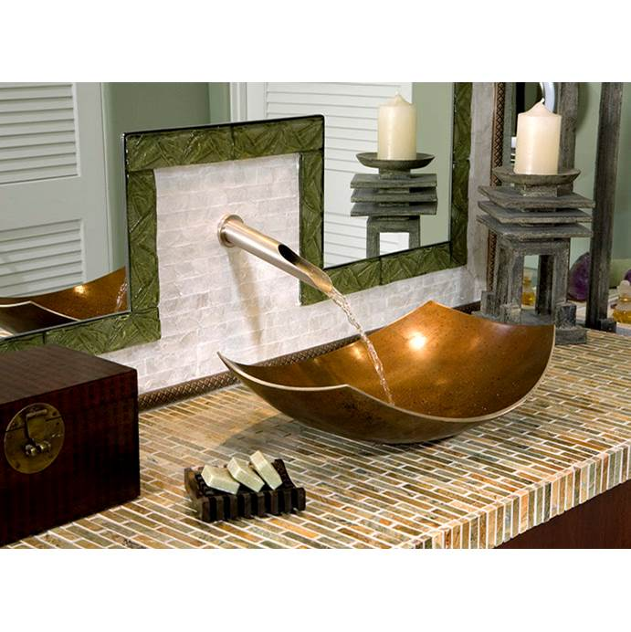 Sonoma Forge Wall Mounted Bathroom Sink Faucets item SANS-WE-WM-WF-SN