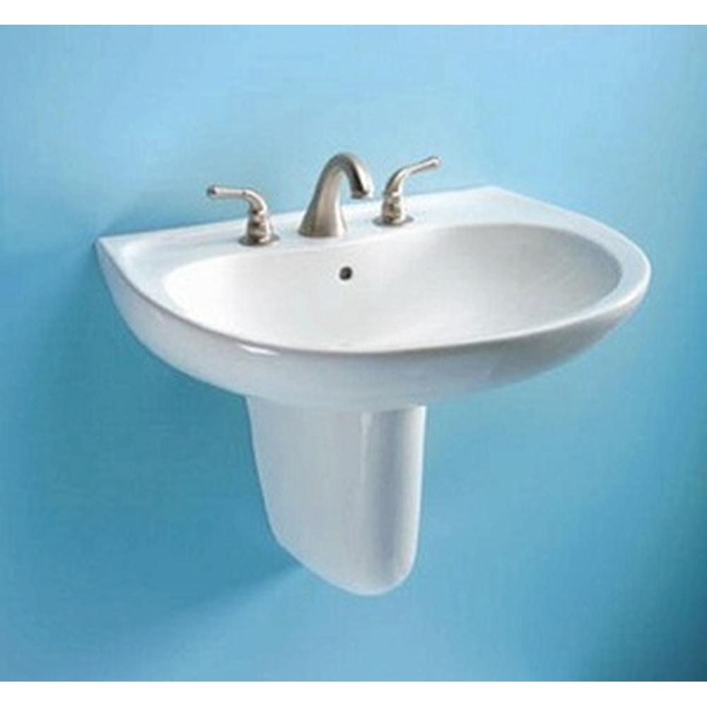 Gerber Wall Hung Sink : ... Point 8 Faucet Configuration Wall Hung Lavatory and Shroud Combo White